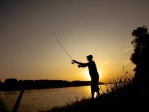 pêche coucher de soleil
