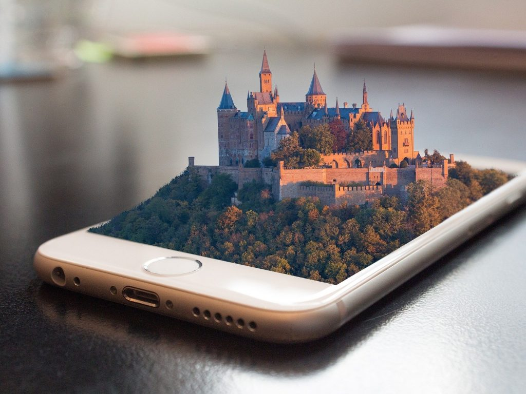 château 3D smartphone
